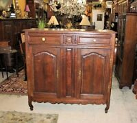French Antique Oak Tall Sideboard Cabinet Circa 1800 | Dining Room Furniture