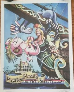 Key West Fantasy Fest 2008 - Poster 26x20 Signed art print rare political pirate