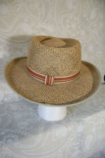 Smart Columbia Unisex Hat Seagrass Shell and cotton liner Summer Size L/XL