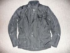 MENS RICHA ARMOURED BLACK XS EXTRA SMALL TEXTILE WATERPROOF MOTORCYCLE JACKET