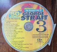 GEORGE STRAIT GREATEST HITS COUNTRY KARAOKE CDG CHARTBUSTER 5046-03 CD+G MUSIC