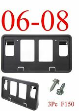 FO1068137 3Pc 06 08 F150 Front License Plate Bracket, Ford, W/ Hardware