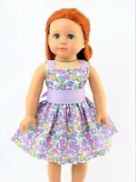 "Lavender Easter Eggs Dress Fits 18"" American Girl Doll Clothes"