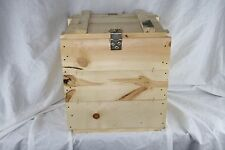 Custom Wooden Storage Box Chest w/ Metal Hinge and Lock, Handles, Ship Container