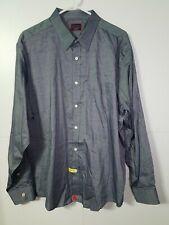 Untuckit Men's Sz XXL Button Up Shirt Long Sleeve Blue Chambray
