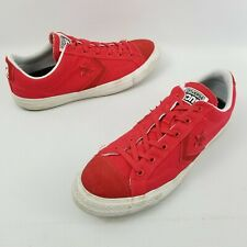 046d9a8531e8 Converse Cons All Star White   Red Mens Skater Shoes Chuck Size 11