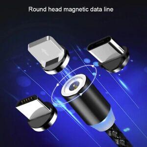 Câble USB Cordon Chargeur Magnétique LED pour Type-C + Micro USB + iPhone