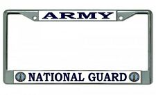 Army National Guard Chrome Metal License Plate Frame