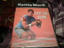 kettleworx kettle worx  dvd  fast fat burn  health fitness new sealed workout