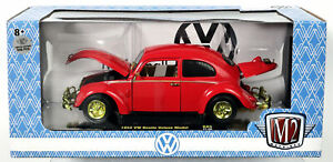 M2 Machines 1952 VW Beetle Deluxe Model CHASE 1/500pc #40300 21-08 NRFB Red 1:24