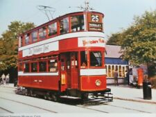 POSTCARD LEEDS CITY TRAM CAR NO. 180 NATIONAL TRAMWAY MUSEUM - CRICH