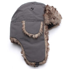 fb348246201 Adult Men Winter Trapper Aviator Trooper Earflap Warm Russian Ski Hat Fur  Bomber