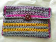Large Sized Wallet / Credit Card & Cash Wallet / Hand Crocheted / Phone Pouch