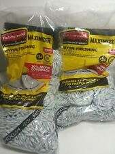 Lot of 2 Rubbermaid Commercial Large #24 Maximizer Rayon Finishing Mop Refill