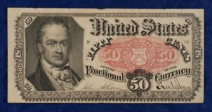 1875 50c Fractional Currency