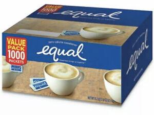 Equal Zero Calorie Sweetener, 0.035 oz Packet, 1000/CT (FREE SHIPPING )