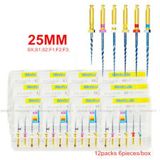 12 Boxes 25mm Dental Heat Activated Niti Endodontic Root Canal Repair Files Blue