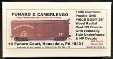 Funaro F&C 1006 NORTHERN PACIFIC NP 36' Old Time Boxcar Radial Roof 1-PIECE Fish