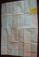 1980 Map through routes Guildford England Scotland Wales AA Bartholomew HR 49