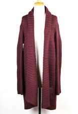 Peruvian Connection Red Maroon Burgundy Cardigan Sweater Open Front Alpaca XL
