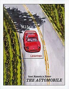 👉 LESOTHO 2001 AUTOMOBILE HISTORY S/S MNH CARS, TRANSPORT (BEST OFFER, JOE?)
