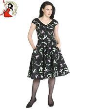 HELL BUNNY LEXIE POODLE DRESS 50s style BLACK lexi XS-4XL