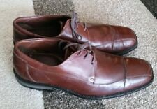 JOHNSTON & MURPHY GENUINE  BROWN LEATHER  LACE UP  MEN'S SHOES 10,5 M