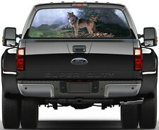 Wolf Forest Version 2 Rear Window Graphic Decal Truck SUV Van Car
