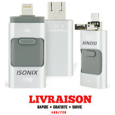 ISONIX Clé USB iPhone OTG i-Flash 64Go Stockage Memory Pour iPhone 6/7/8/x Argn