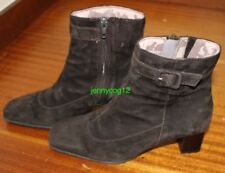 CLARKS WOMENS LADIES CHOCOLATE DARK BROWN SUEDE ZIP UP ANKLE BOOTS SIZE 4