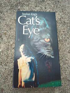 Cats Eye VHS Stephen King Horror 1985 Drew Barrymore James Woods  Rare 2001 CPY