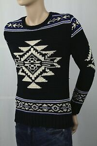 Children POLO Ralph Lauren Black Cream Fair Isle Nordic Sweater NWT $135
