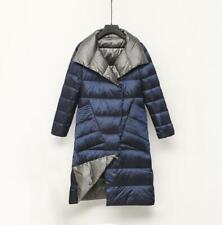 Two Sides Wear Women Long parka Ultra Light White Duck Down Jacket Puffer coat.