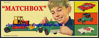 Matchbox Toys Poster 1960's Artwork Shop Display Sign Leaflet Advert VG Quality