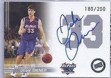 2005 Press Pass Basketball Drake Diener DePaul Blue Demons Auto Card #180/200