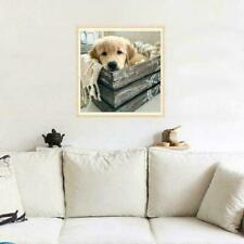 5D DIY Full Drill Diamond Painting Dog Cross Stitch Embroidery Mosaic Kit@