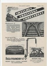 1948 Advert for ISCA FOUNDRY CO. Crossings, Switches + Churchill Marine Tool Co.