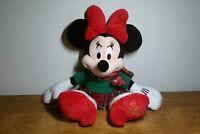 "Minnie Mouse Holiday Plush 17"" Disney Store 2012 Stuffed Animal Christmas"