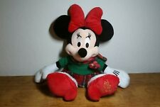 "Minnie Mouse Holiday Plush 17"" Disney Store 2012 Stuffed Animal Christmas"