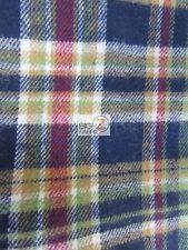 TARTAN PLAID UNIFORM APPAREL FLANNEL FABRIC - Multi-Color - BY YARD CLOTHING #A