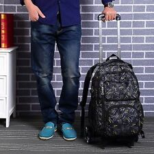Student Bag Climb Stair With 3 Wheels Removable Trolley Wheeled Backpack