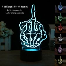 3D Finger Acrylic USB Table 7 Color Changing Night Light Lamp Touch Switch Gift