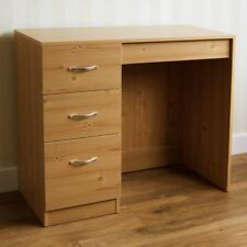 Riano 3 Drawer Dressing Table Pine Makeup Desk Wooden Bedroom Furniture