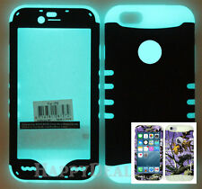 """Hybrid Silicone Cover Case for APPLE iPhone 6 Plus 5.5"""" Glow/Camo Mossy Purple"""
