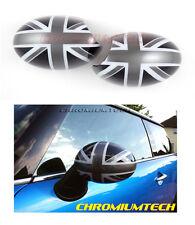 BLACK UNION JACK ALA SPECCHIO tappo di copertura per mk1 BMW Mini Cooper/Uno/S modelli RHD