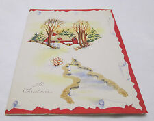 Vintage Christmas Greeting Card 1946 Heartiest Greetings and Best Wishes