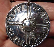 MEDAGLIA VINTAGE Insolito firmato IPOTECA per l'acquisto Silver Cross pochi centesimi DELL'INGHILTERRA COLLANA