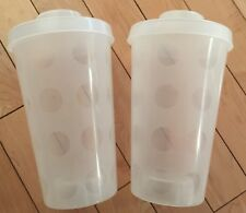 LEGO PICK A BRICK CUPS Lot of 2 LARGE CLEAR STORAGE CONTAINERS w/ LIDS