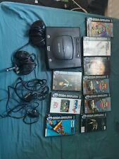 Sega Saturn Konsole + alle Leads + 2 Controller und 9 Spiele Bundle