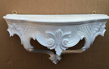 Wall Bracket White Baroque Shelf 30x16 Mirror Table Antique Console Storage NEW